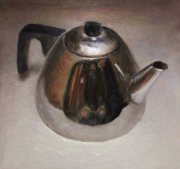 Painting: Still life with small teapot