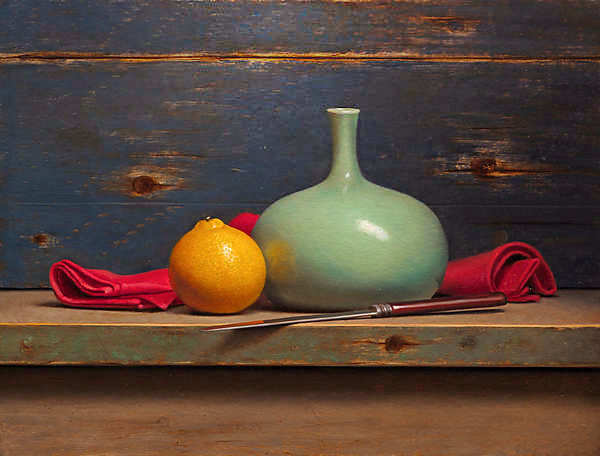 Painting: Still life with minneola