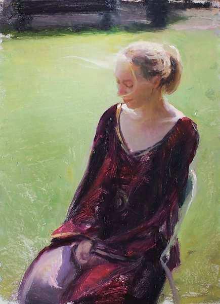 Painting: Plein-air figure study