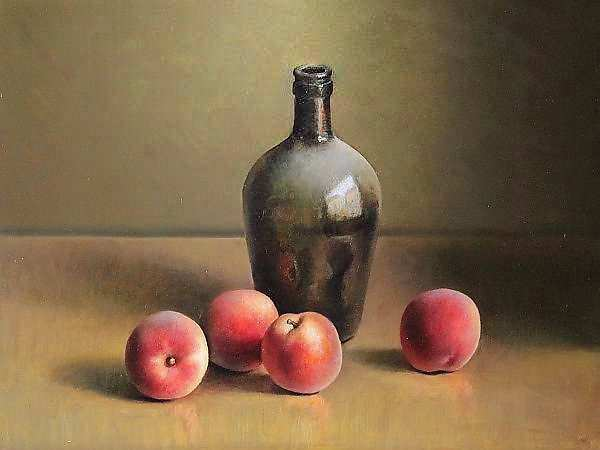 Painting: Still life with peaches