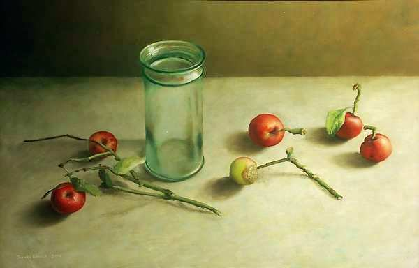 Painting: Still life with with apples