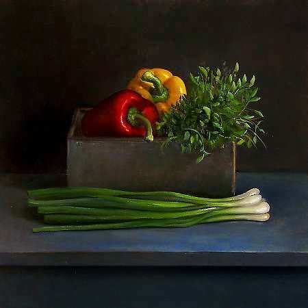 Painting: Still life with paprika