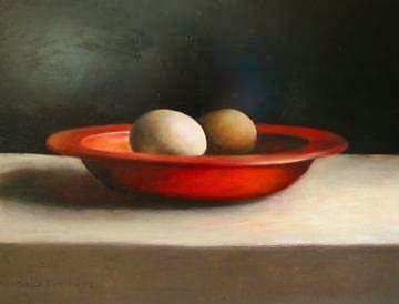 Painting: Bowl with eggs