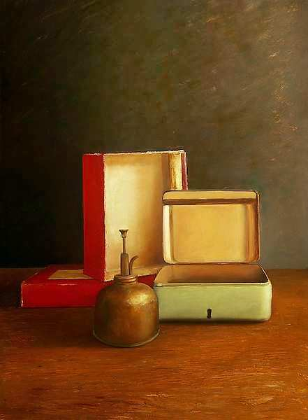 Painting: Still life with till