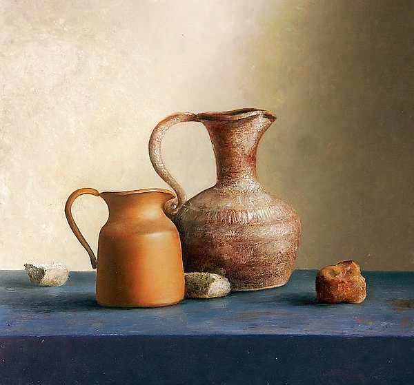 Painting: Still life with finds from the intratuinoicum