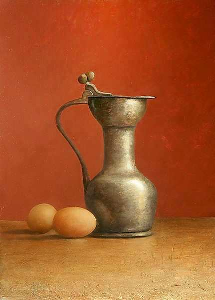 Painting: Still life with egg