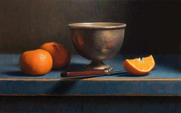 Painting: Still life tangerines